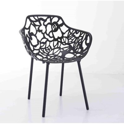 Avelar Metal Dining Chair Color: Black