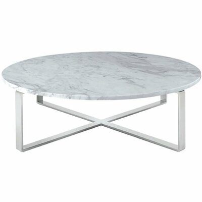 Orian Marble Coffee Table Color: Chrome