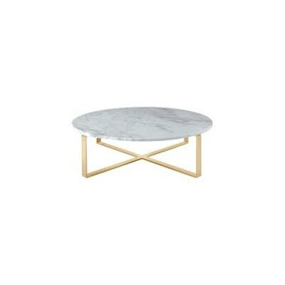 Orian Marble Coffee Table Color: Gold