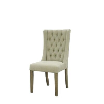 Auberto Upholstered Dining Chair Upholstery Color: Beige