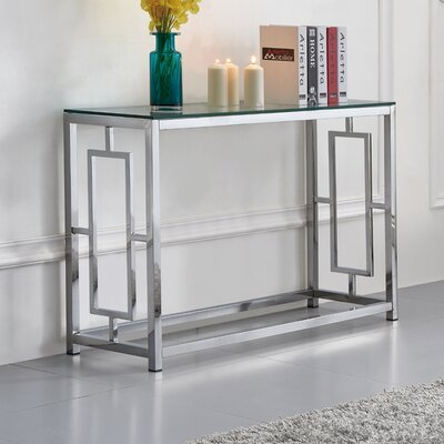 Tameka Glass Console Table