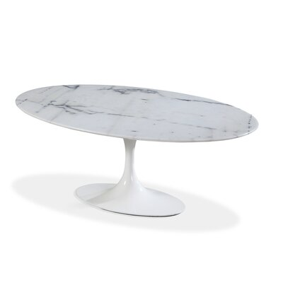 Ryanne Marble Dining Table Size: 30 H x 36 W x 36 D