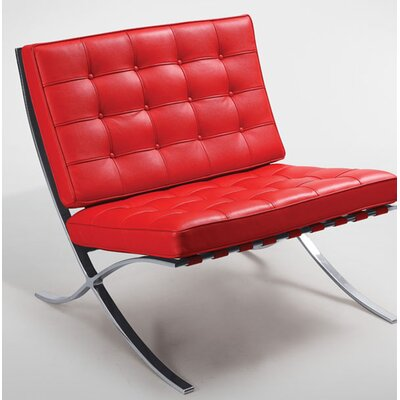 Mccallum Lounge Chair Upholstery: Red
