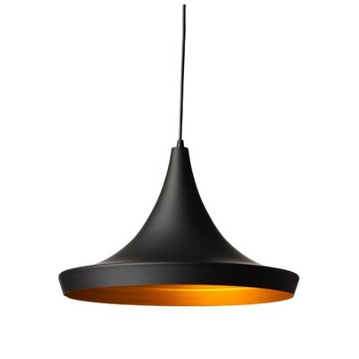 Carrigan 1-Light Mini Pendant Finish: Black
