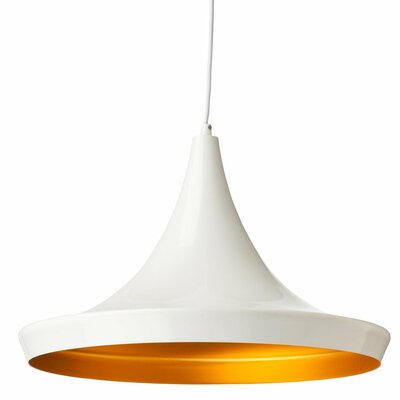 Carrigan 1-Light Mini Pendant Finish: White
