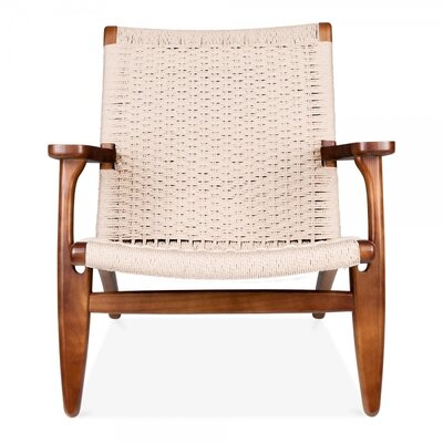 Wood Armchair Upholstery: Walnut