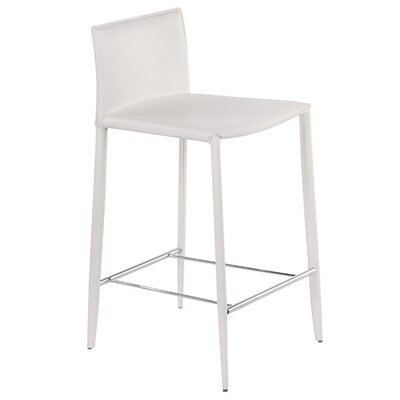 Jarrard 26 Bar Stool Color: White