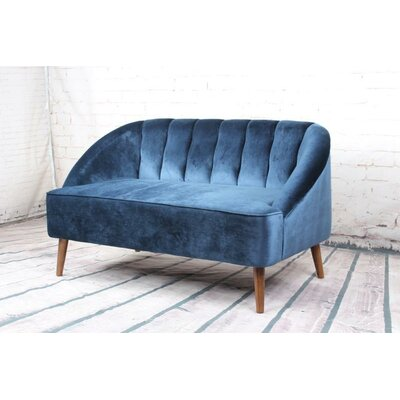 Mcclanahan 2 Seater Sofa Upholstery: Navy