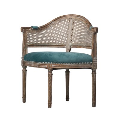 East Drive Antique Cane Barrel Chair