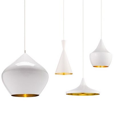 Canchola 3 Light Cluster Pendant Finish: White