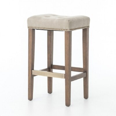 Mallory French 26 Bar Stool Finish: Beige