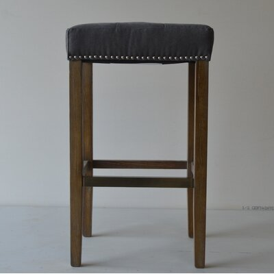 Mallory French 26 Bar Stool Finish: Gray