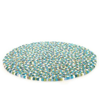 Happy as Larry Felt Ball Kids Rug Rug Size: Round 5