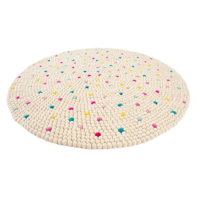 Happy as Larry Sprinkles Felt Ball Rug Rug Size: Round 33