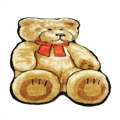 Teddy Bear Kids Rug Rug Size: Novelty 5 x 7