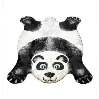 Panda Black Outdoor Area Rug Rug Size: Novelty 23 x 38