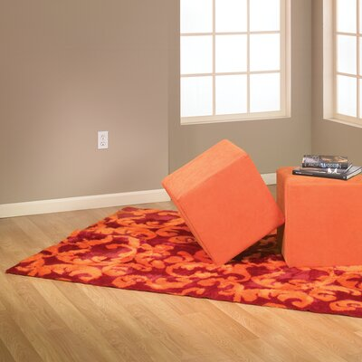 Modern Print Red/Orange Area Rug Rug Size: 47 x 67
