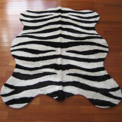 Animal Zebra Bold Striped Area Rug Rug Size: Rectangle 33 x 47