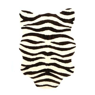 Animal Ivory/Brown Zebra Area Rug Rug Size: 47 x 67