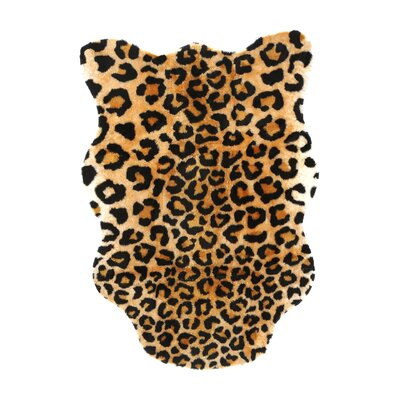 Animal Black/Brown Leopard Area Rug Rug Size: 33 x 47