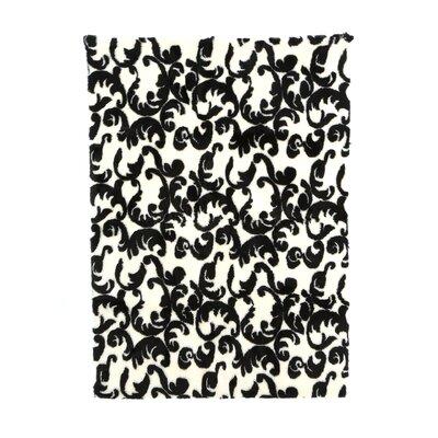 Modern Black/White Area Rug Rug Size: 47 x 67