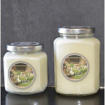 "Artisan English Bouquet Jar Candle Size: 3.75"" H x 3"" W x 2.75"" D BAXM-140-8"