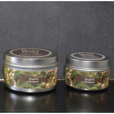 "Artisan English Bouquet Jar Candle Size: 1.75"" H x 2.5"" W x 2.5"" D BAXM-140-4T"