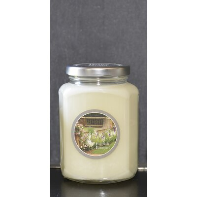 "Artisan English Bouquet Scent Jar Candle Size: 4.5"" H x 3.5""W x 2.75"" D BAXM-140-11"