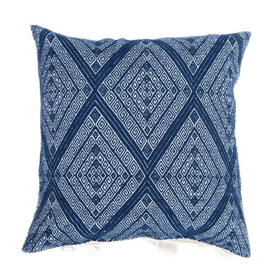 San Andres Cotton Throw Pillow Color: Navy