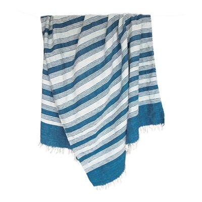 Raya Hand-woven Blue Area Rug Rug Size: 5