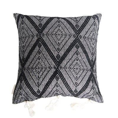 San Andres Cotton Throw Pillow Color: Black