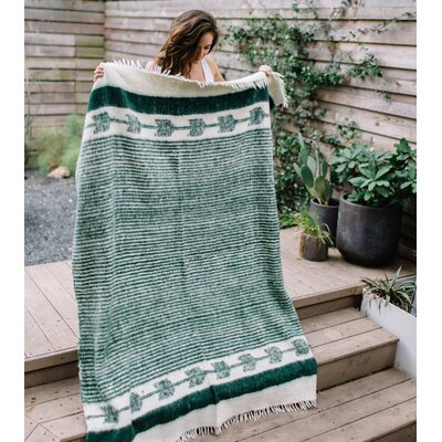Chamarra Wool Blanket Color: Green