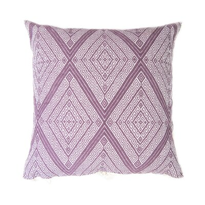 San Andres Cotton Throw Pillow Color: Mauve