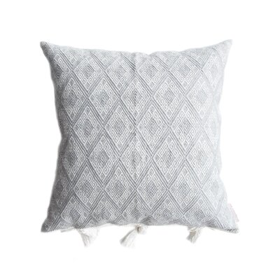 Cardinal Points Cotton Throw Pillow Color: Gray