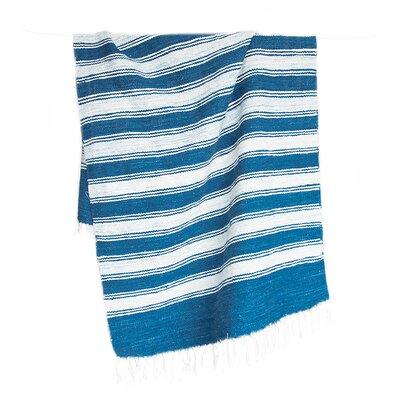 Raya Hand-Woven Blue Area Rug Rug Size: 26 x 5