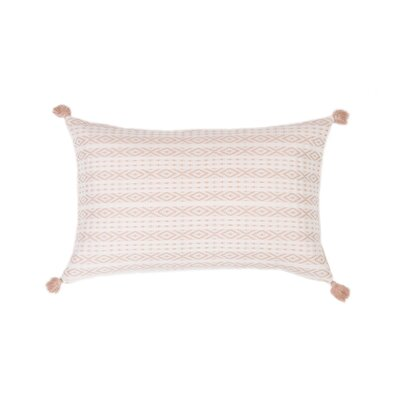 Zincantan Cotton Lumbar Pillow Color: Blush