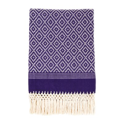 Flecos Cotton Throw Color: Purple