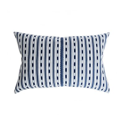 Del Lago Cotton Lumbar Pillow Color: Indigo