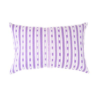 Del Lago Cotton Lumbar Pillow Color: Lilac