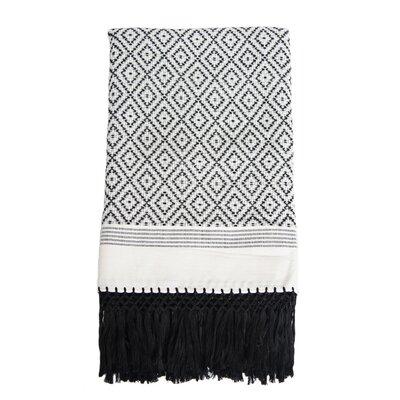 Flecos Cotton Throw Color: Black