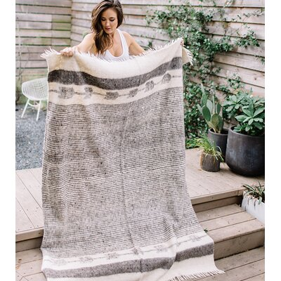Chamarra Wool Blanket Color: Gray