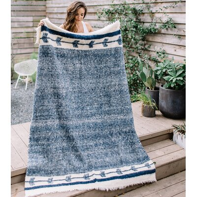 Chamarra Wool Blanket Color: Navy
