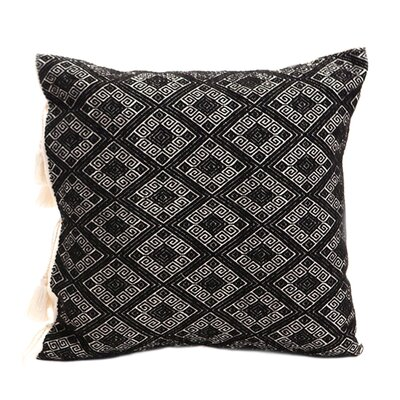 Cardinal Points Cotton Throw Pillow Color: Black