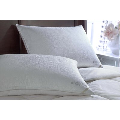 300 Thread Count Yarn Dyed Goose Side Sleeper Down Pillow Size: King