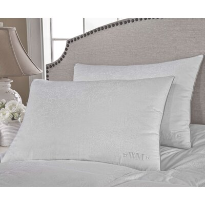 300 Thread Count Yarn Dyed Goose Down Pillow Size: Jumbo