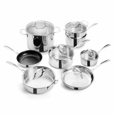 14 Piece Superior Stainless Steel Cookware Set 996103685