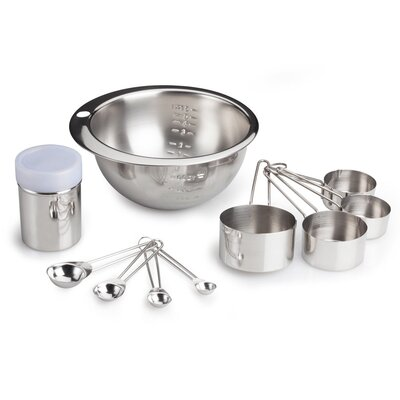 Starter 10-Piece Stainless Steel Measuring Cup and Spoon Set 996100530