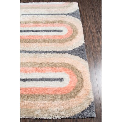 Retro Wave Hand-Tufted Pastel Area Rug Rug Size: Rectangle 5 x 76
