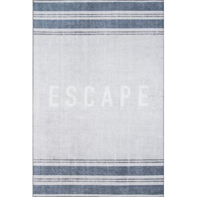Escape Blue Area Rug Rug Size: 76 x 96