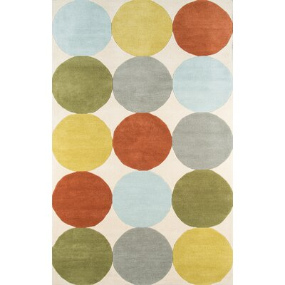 Delmar Agatha-Dots Hand-Tufted Area Rug Rug Size: Rectangle 9 x 12